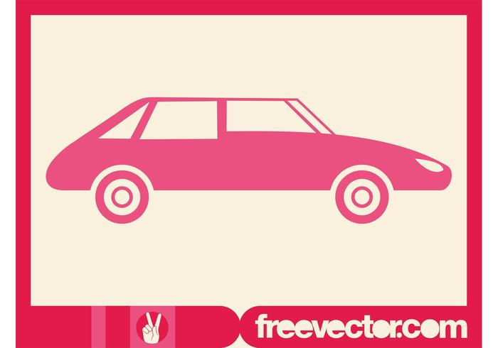 Pink Car Silhouette