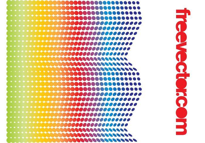 Rainbow Halftone Design