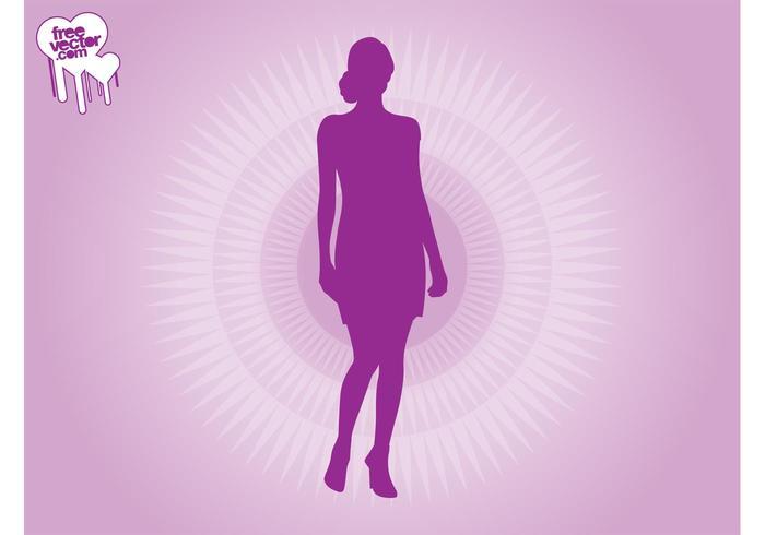 Purple Woman Silhouette