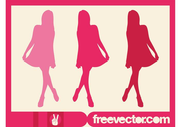 Pink Model Silhouette