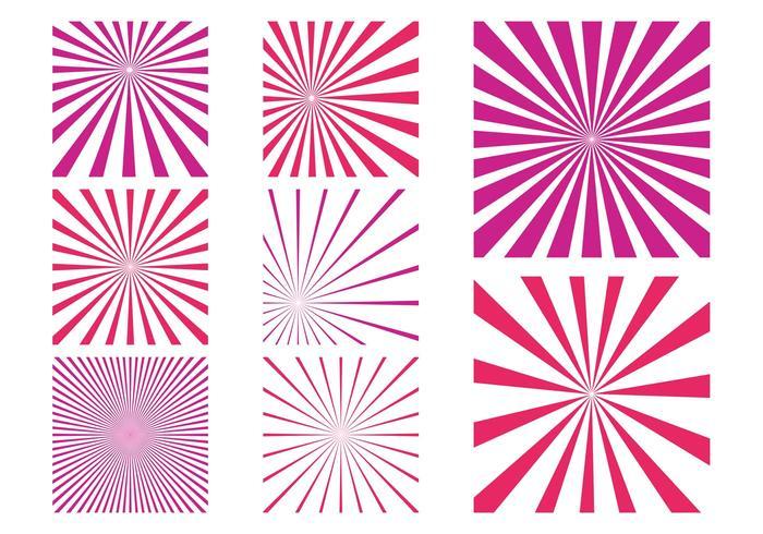 Pink Starburst Patterns