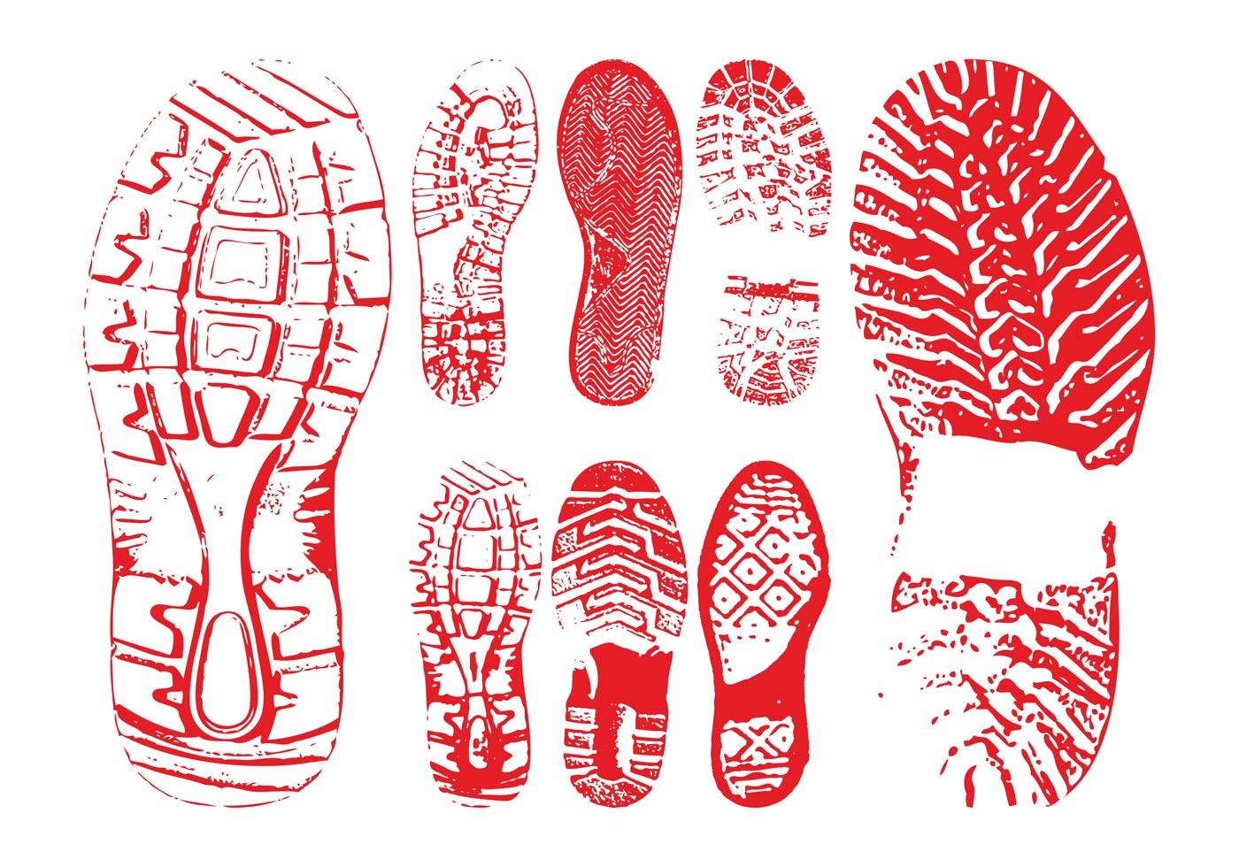 shoe print free vector art 6274 free downloads