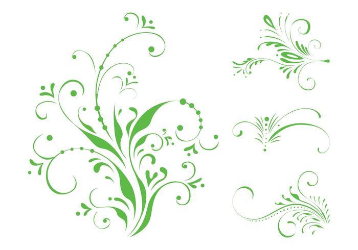 Swirling Floral Scrolls