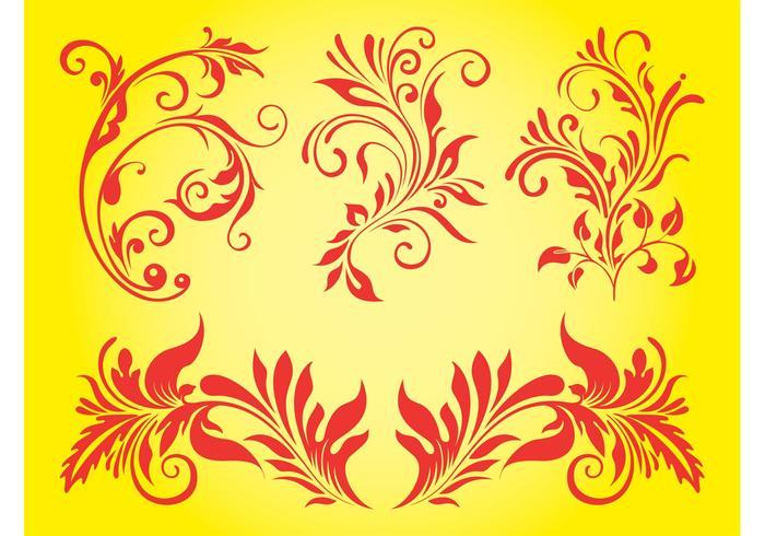 Floral Ornaments Set