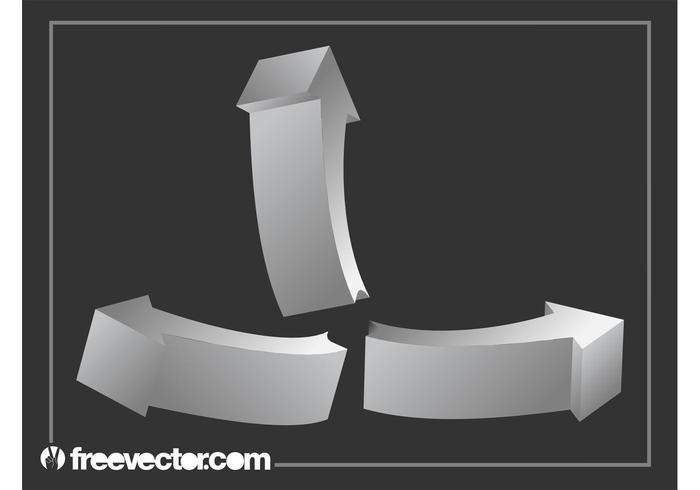 Silver 3D Arrows