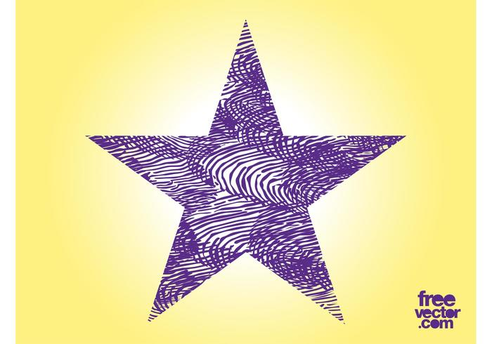 Purple Grunge Star