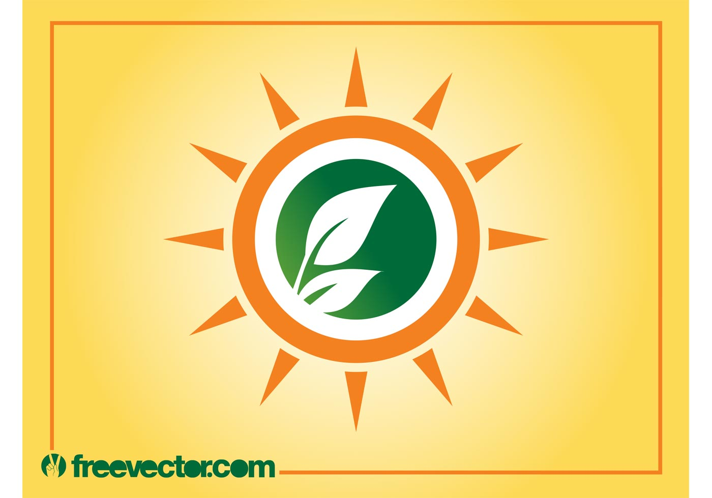 sun and leaves logo download free vector art stock
