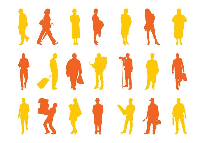 People Silhouettes Set Graphics