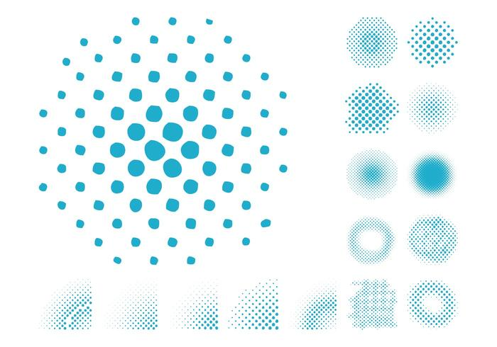Halftone Patterns Set