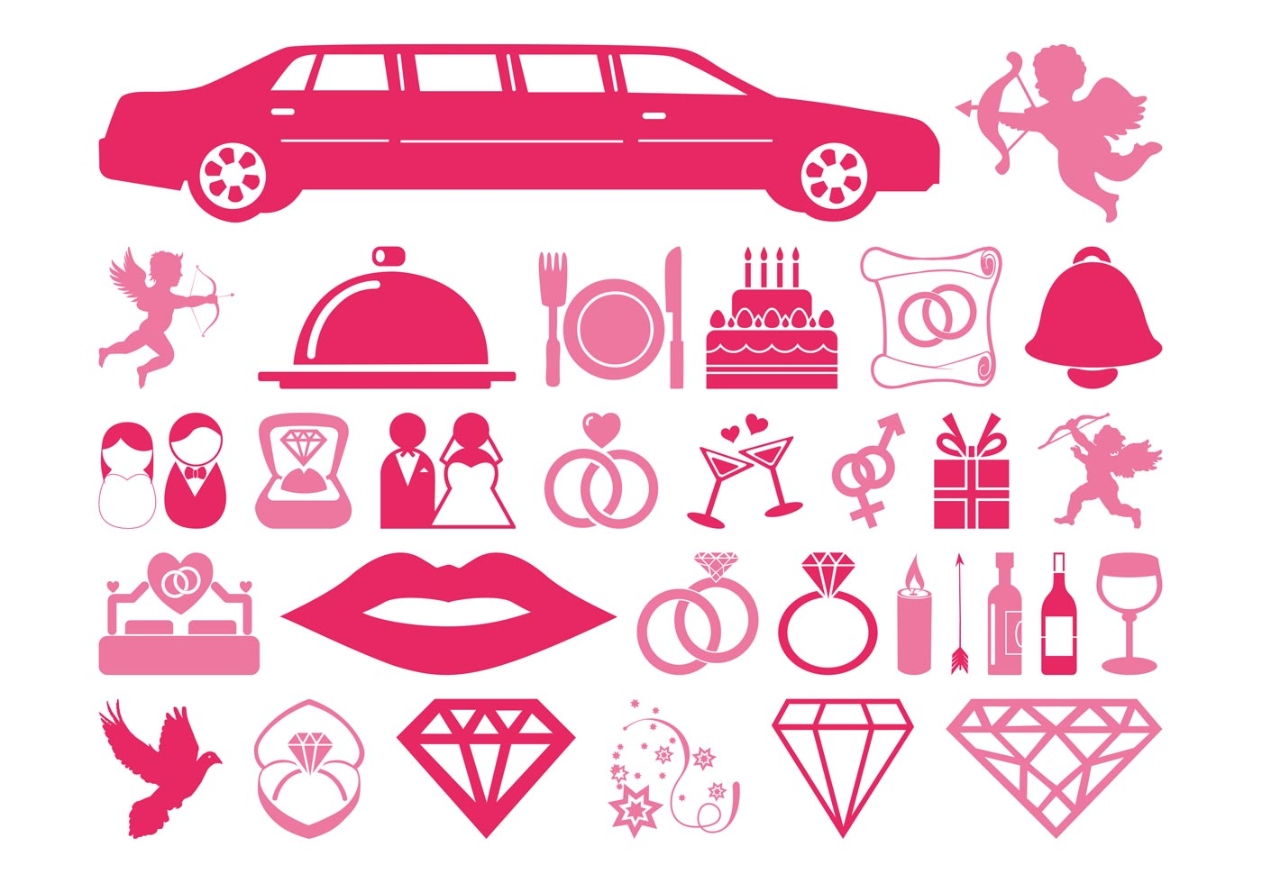 Wedding And Love Icons - Download Free Vector Art, Stock Graphics ...