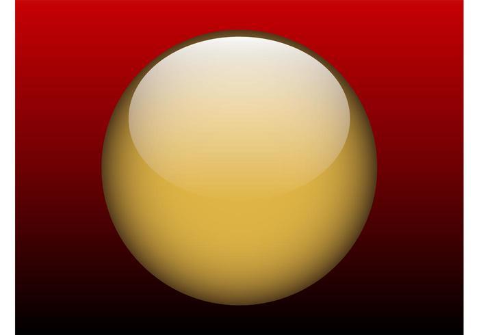 Shiny Golden Button