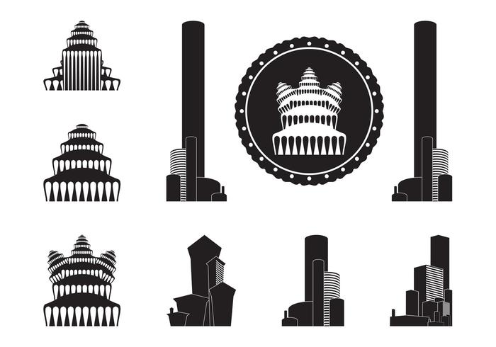 Buildings Silhouettes Graphics