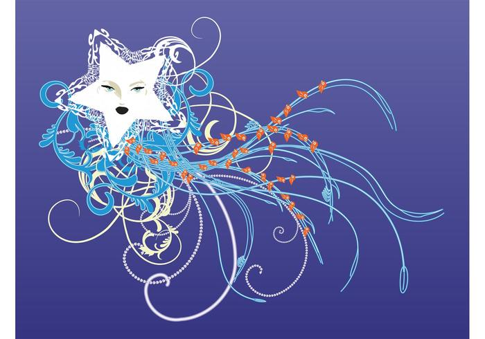 Star And Swirls Graphics