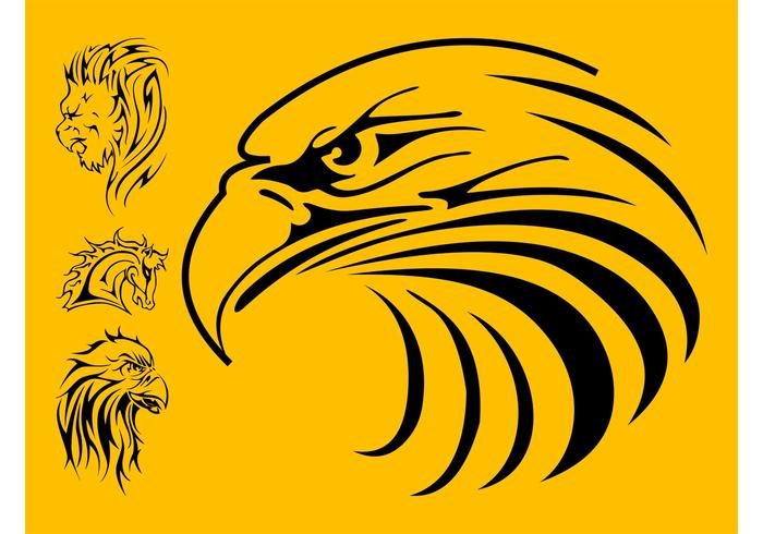Animal Tattoos Set