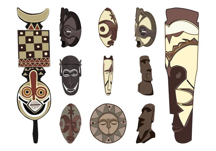 Tribal Masks Set
