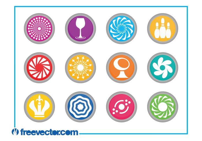Round Icons Set