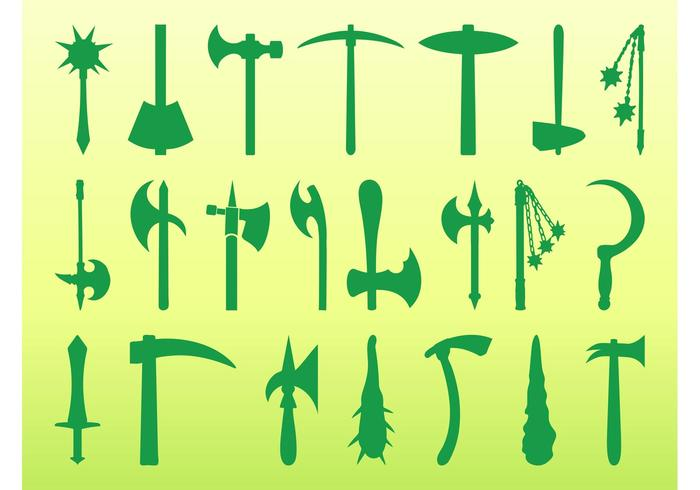 Antique Weapons Silhouettes