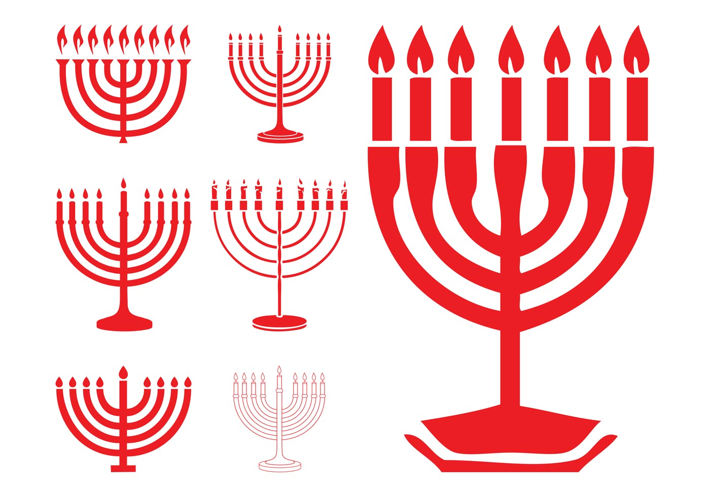 Hanukkah Menorahs Download Free Vector Art Stock Graphics Images