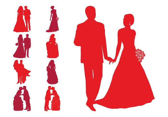 Wedding Silhouettes Download Free Vector Art Stock