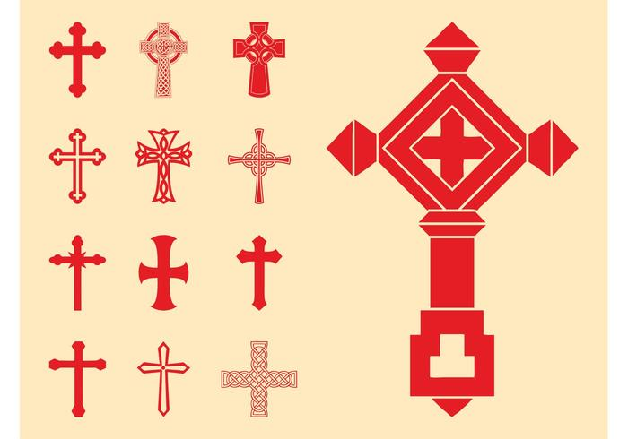 Christelijke kruisen set