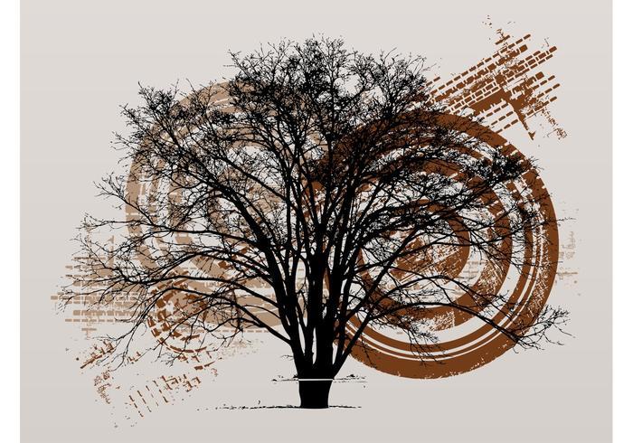 Grunge träd layout