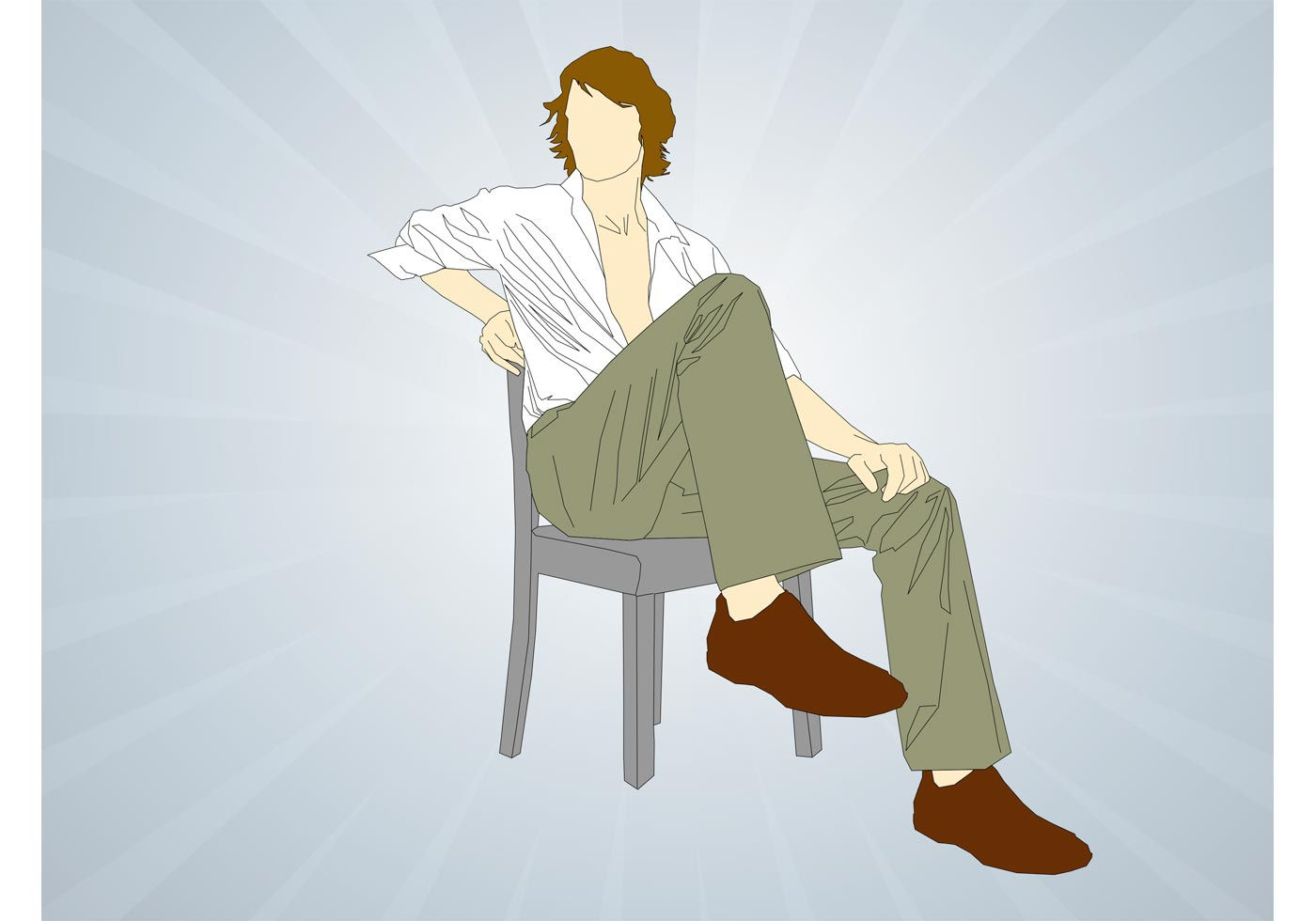 Man Sitting On Chair Download Free Vector Art Stock