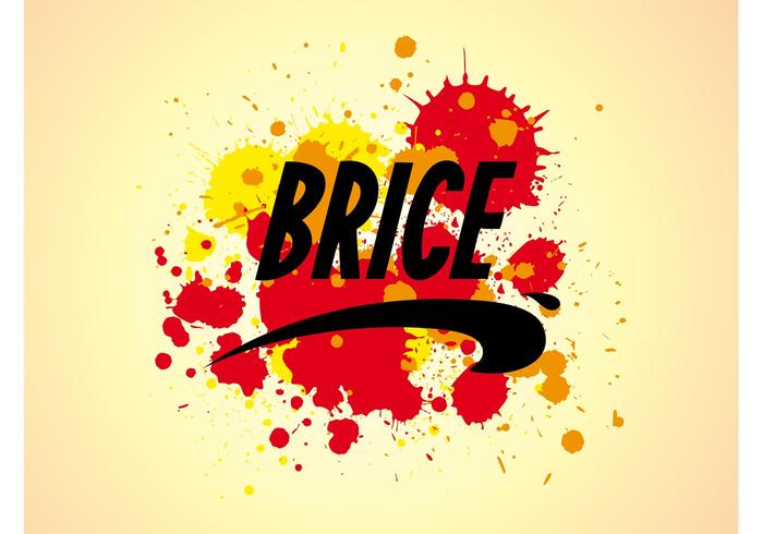 Brice Logo And Splatter