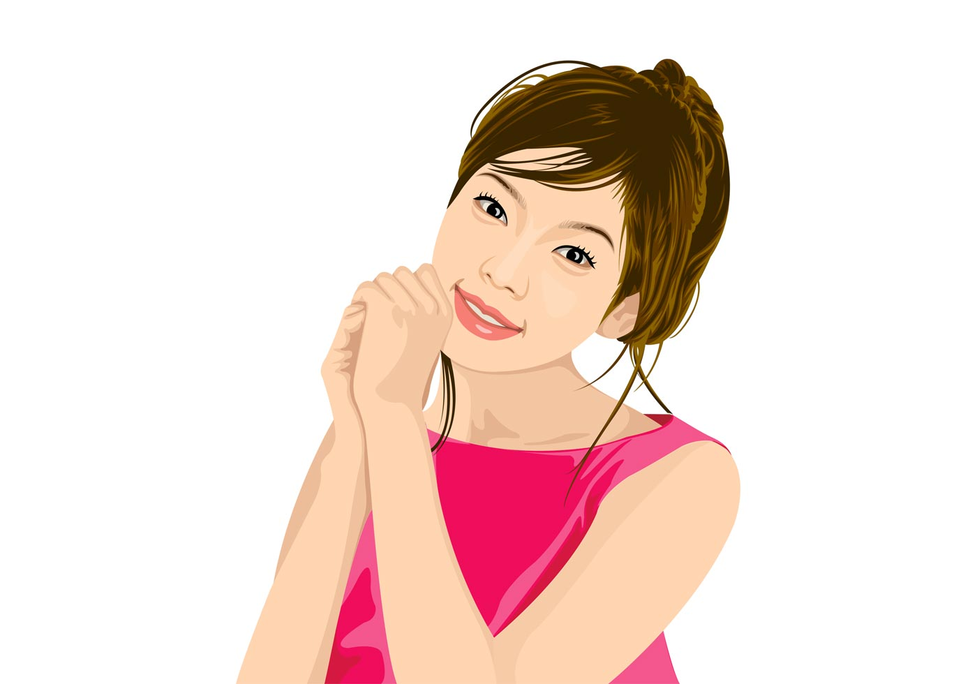 pretty asian girl   download free vector art stock