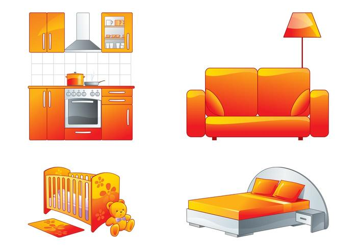 Conjunto de gráficos para muebles - Descargue Gráficos y Vectores Gratis