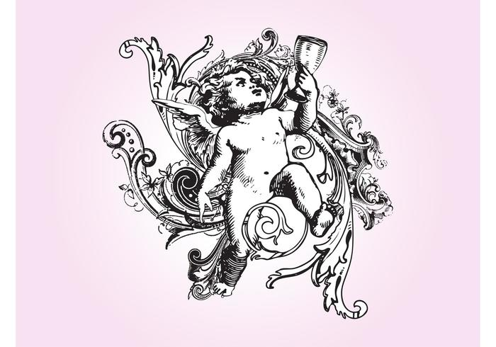 Antique Cupid Graphics