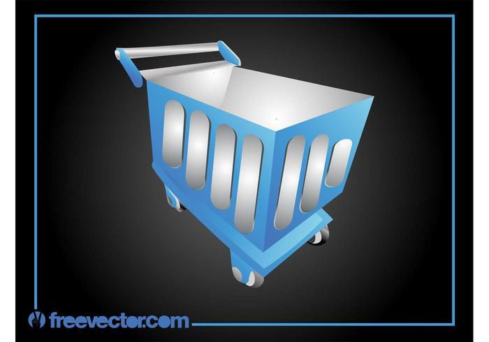 Blue Shopping Cart