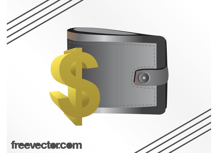 Plånbok och dollar tecken