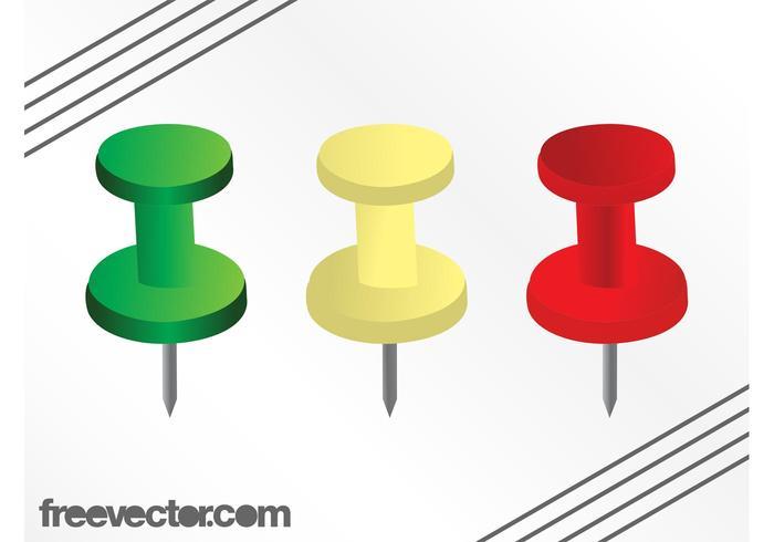 Colorful Push Pins