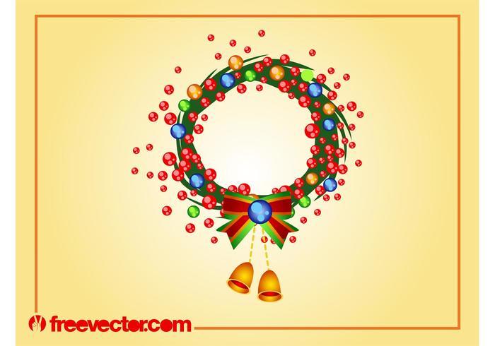 Christmas Wreath Vector Art