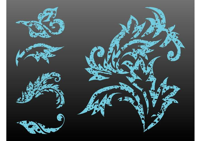 Stained Plant Scrolls