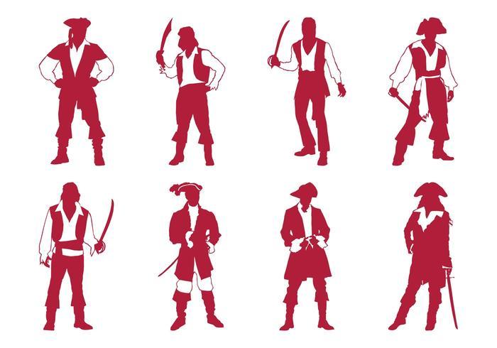 Pirates Silhouettes Set