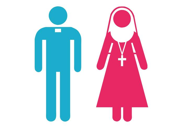 Priest And Nun Icons