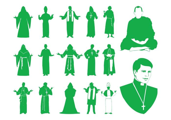 Priests Silhouettes Graphics
