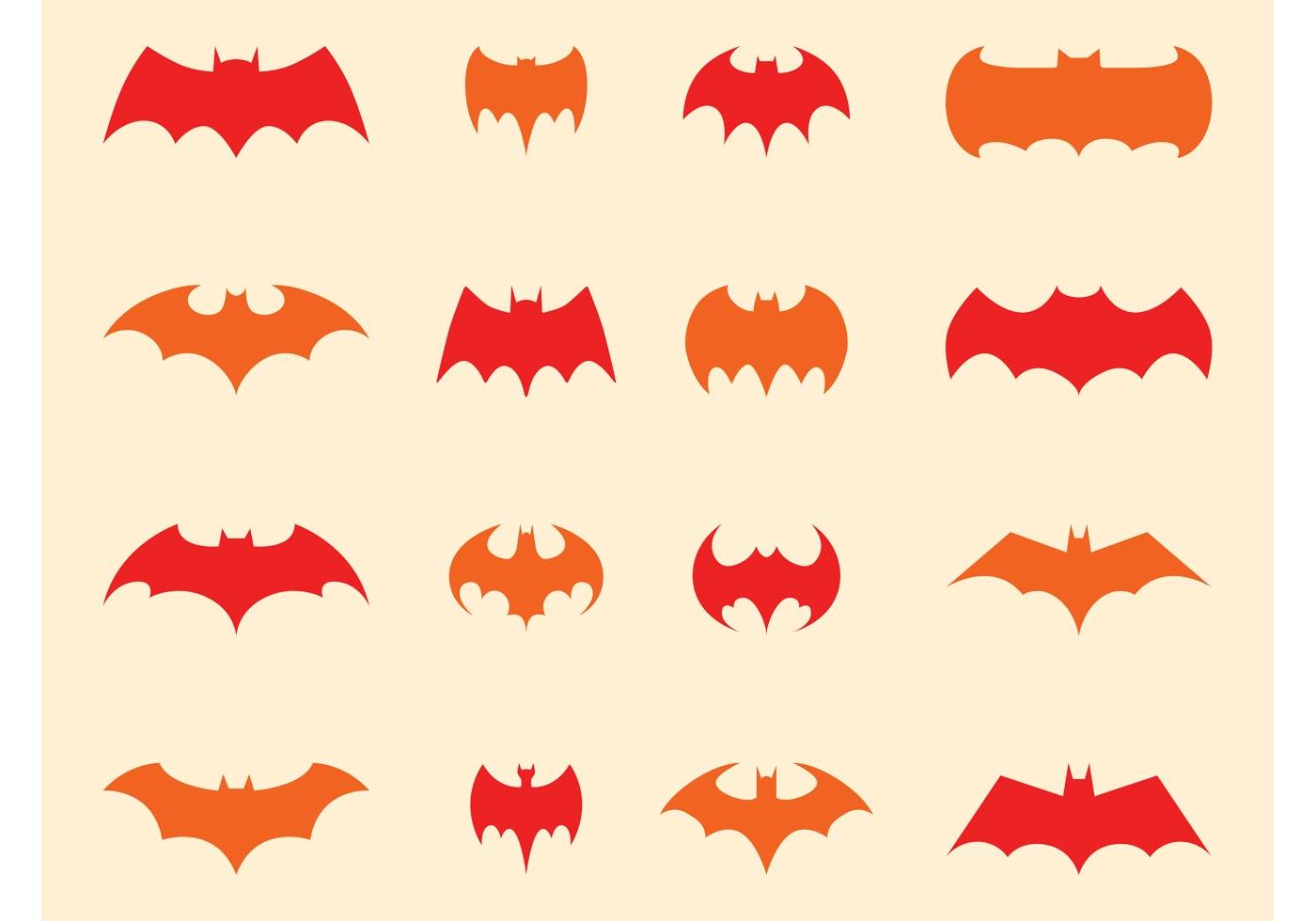 Batman Logo Set Download Free Vectors Clipart Graphics