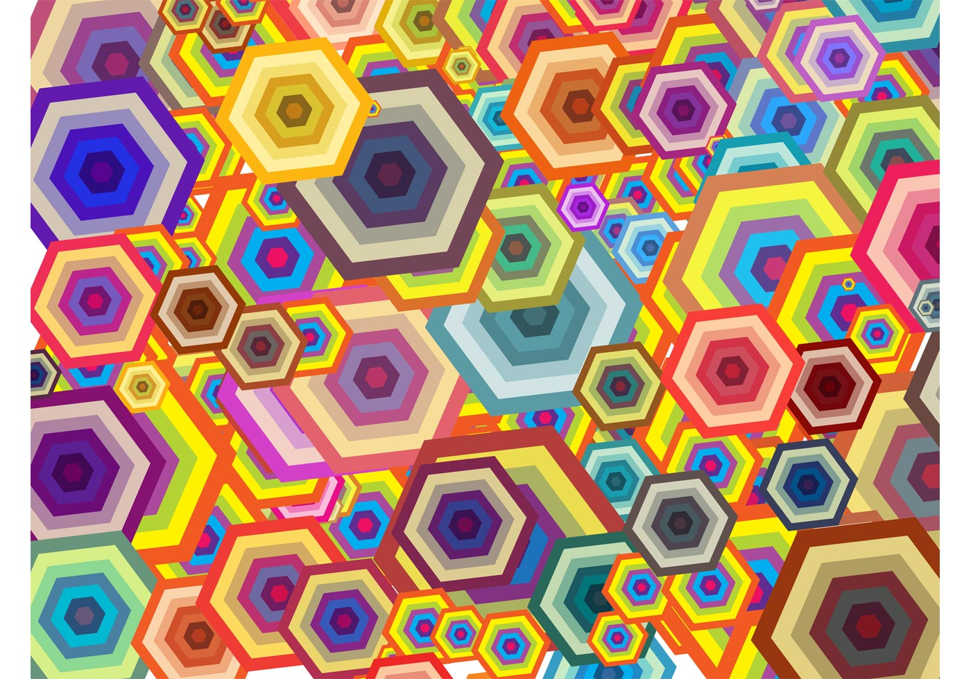 Hexagon Background Free Vector Art