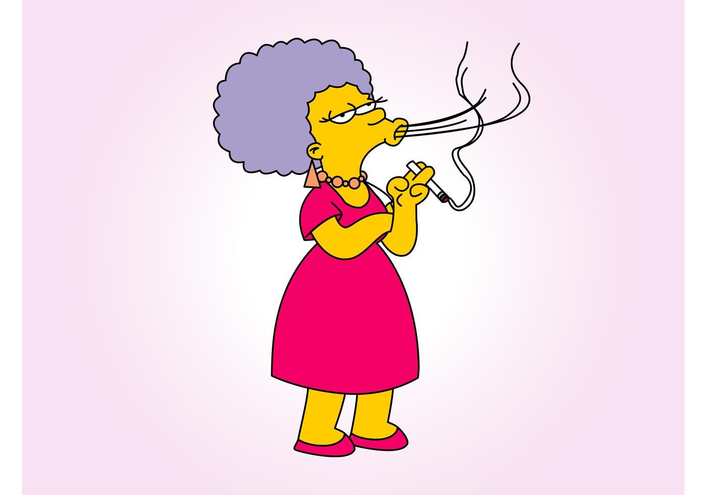 Smoking Cartoon Woman Download Free Vectors Clipart Graphics Vector Art