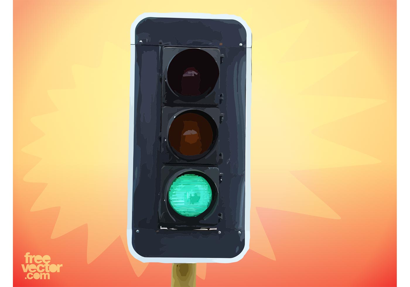 Traffic Light Demolition : Vertical traffic light download free vector art stock