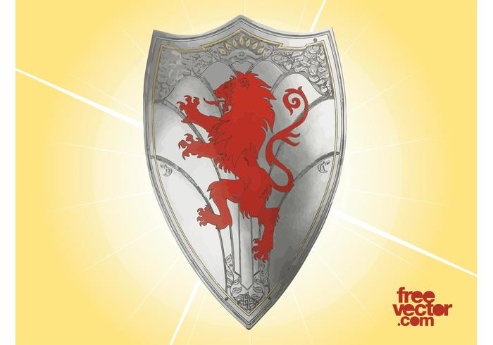 Knight Shield with Lion