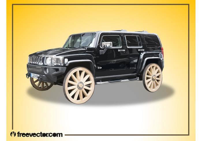 Hummer With Wooden Wheels
