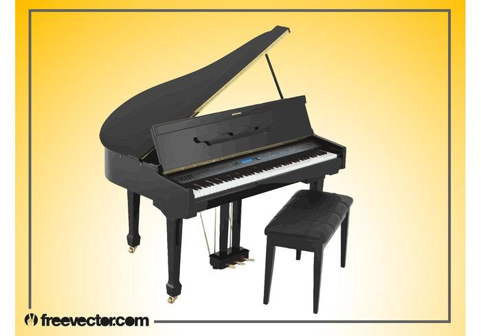 Grand Piano Vector Graphics