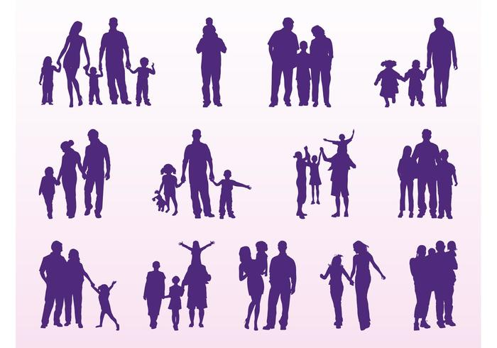 Family Silhouettes Set