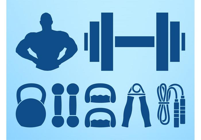 Bodybuilding-Grafik-Set
