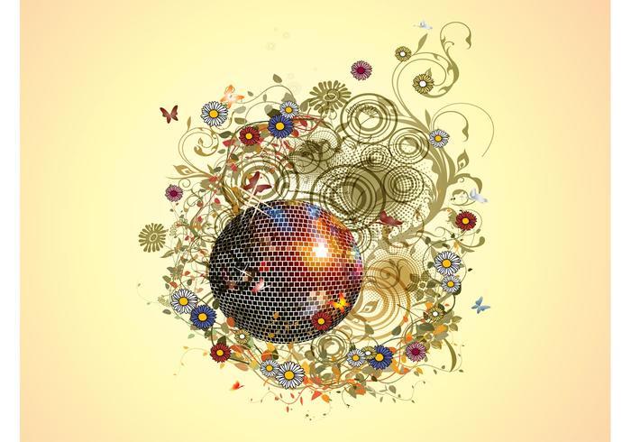 Blumen Disco Ball