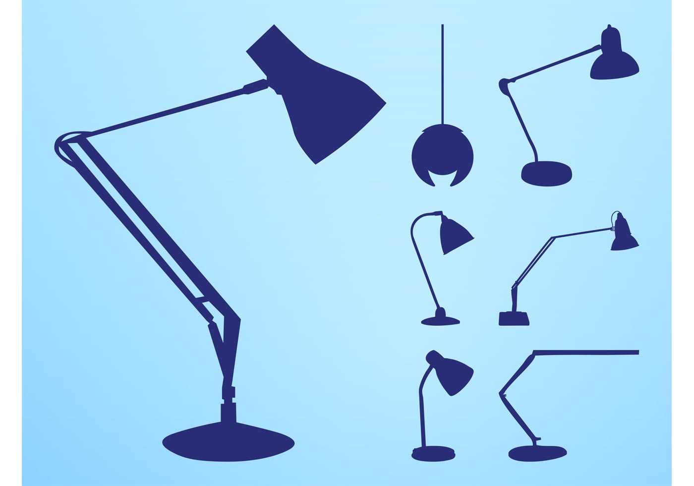 Lamp Silhouettes Set Download Free Vector Art Stock
