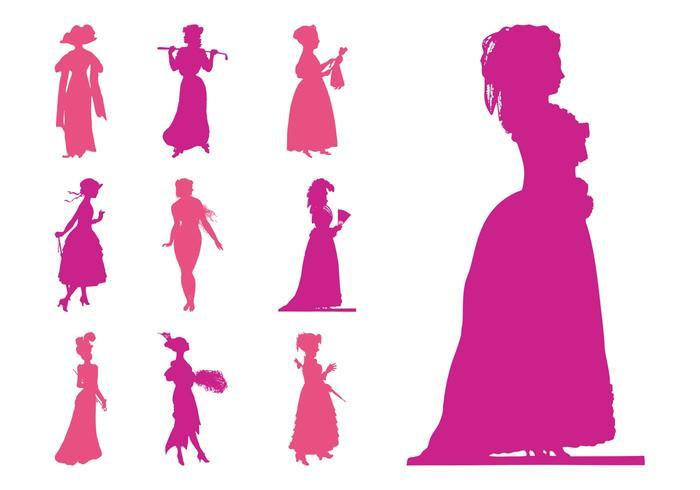 Retro Women Silhouettes
